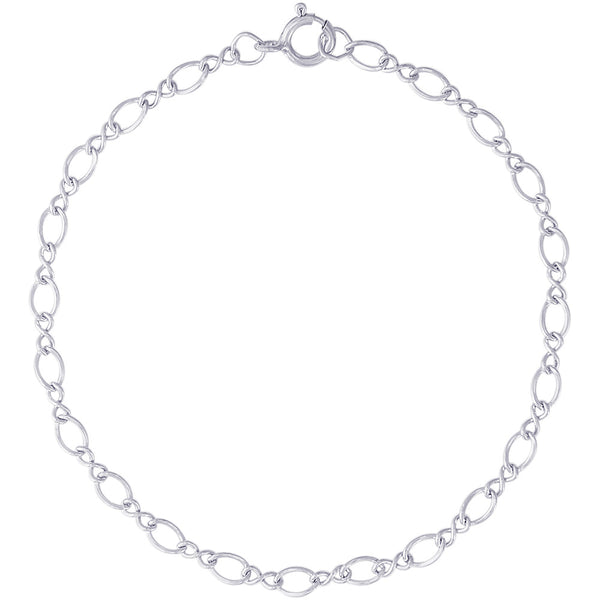 Medium Figure Eight Link Classic Charm Bracelet