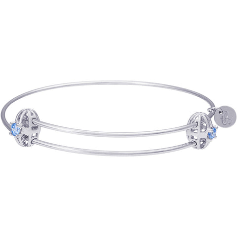 Graceful Bangle Bracelet with Stone