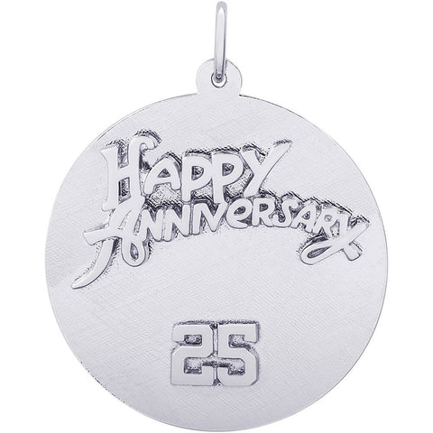 Twenty Fifth Anniversary Disc Charm