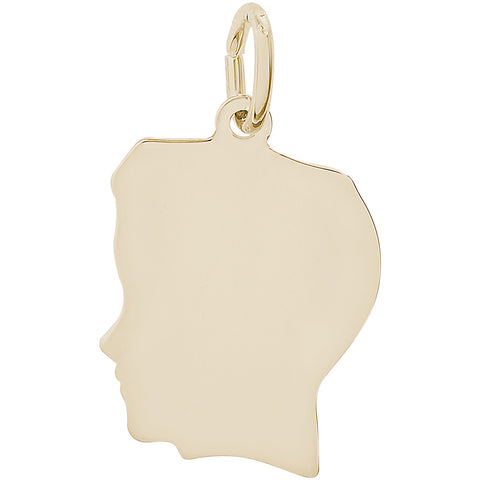 Flat Medium Boy's Head Charm