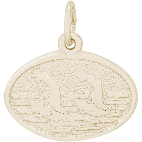 Synchronized Swimming Oval Disc Charm