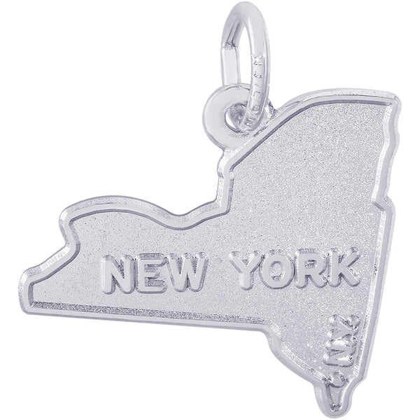 New York Map Charm