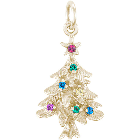 Christmas Tree With Ornaments Charm