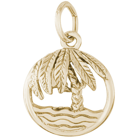 Beach Palm Tree Charm