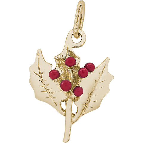 Christmas Holly Charm