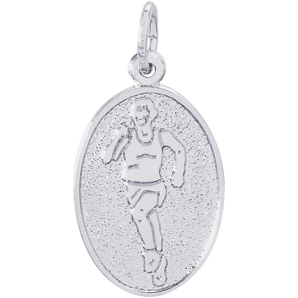 Runner Oval Disc Charm