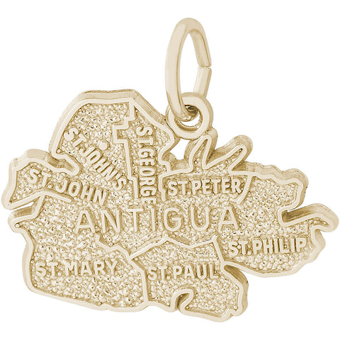 Antigua Cities Map Charm