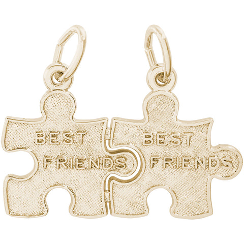 Best Friend Puzzle Pieces Charm