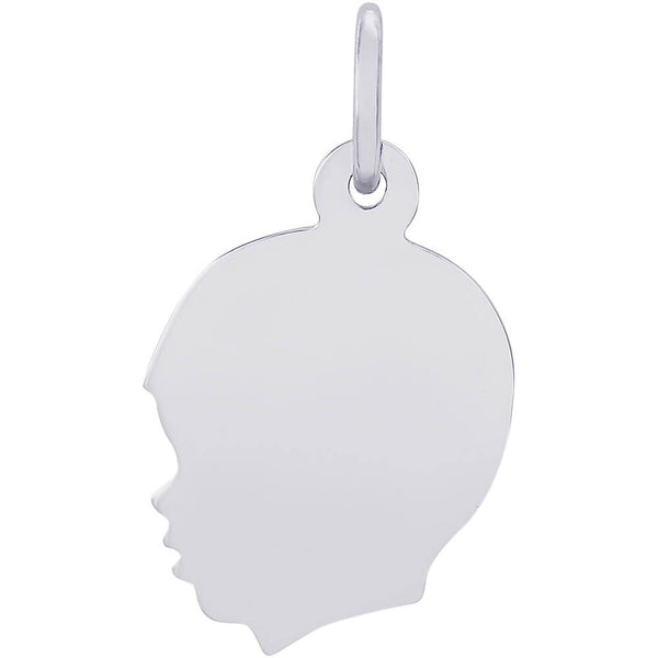Flat Young Boy's Head Charm