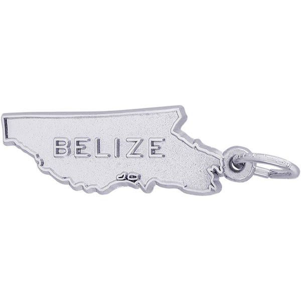Belize Map Charm