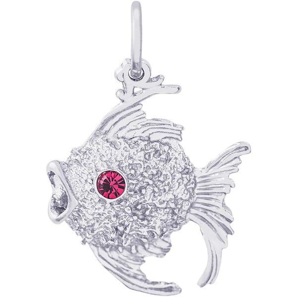 Angelfish With Stones Charm
