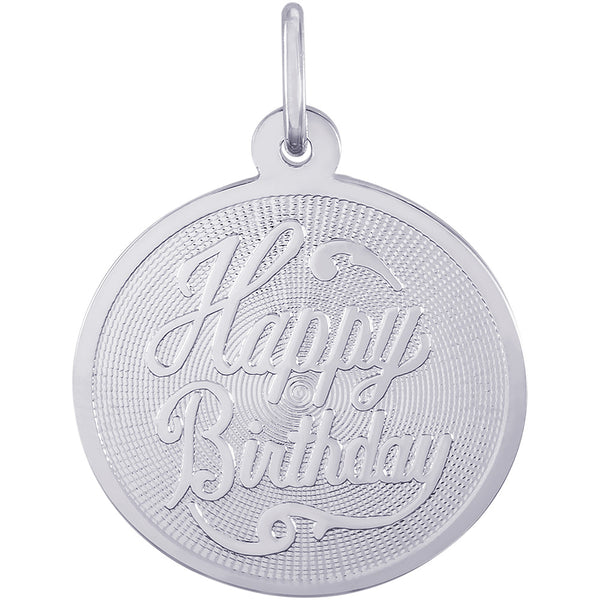 Happy Birthday Disc Charm