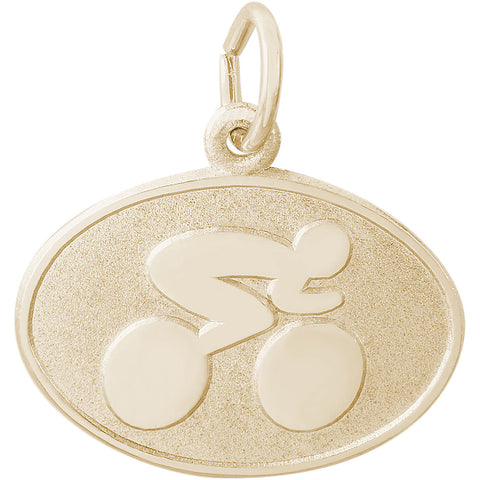 Cyclist Oval Disc Charm
