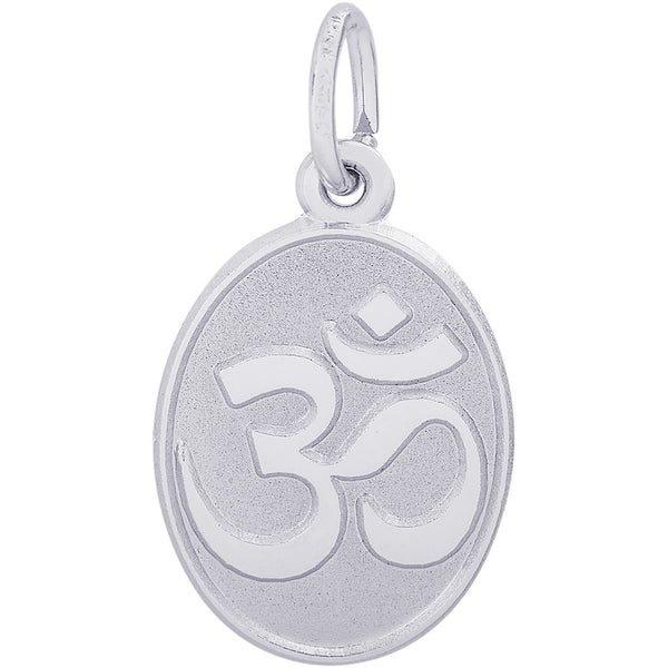 Yoga Symbol Oval Disc Charm