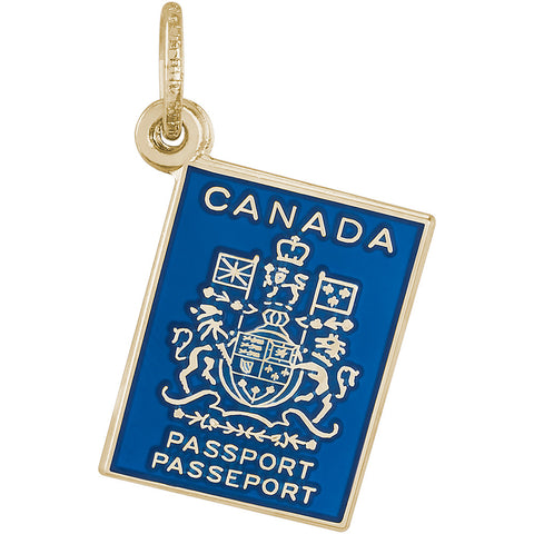 Canadian Passport Charm
