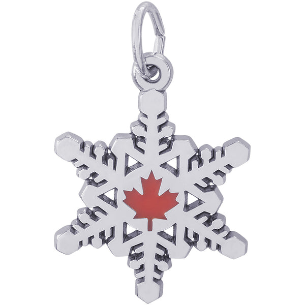 Canadian Snowflake Charm