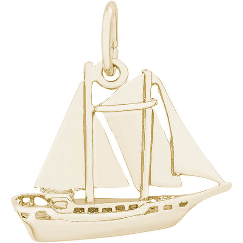 Schooner Sailboat Charm