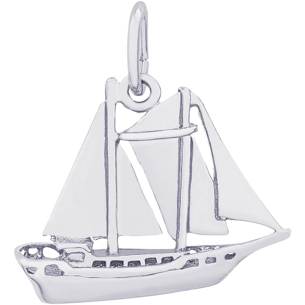 SCHOONER SAILBOAT - Rembrandt Charms