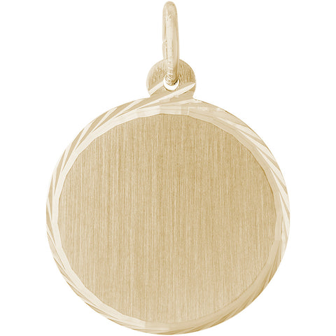 Medium Diamond Faceted Disc Charm