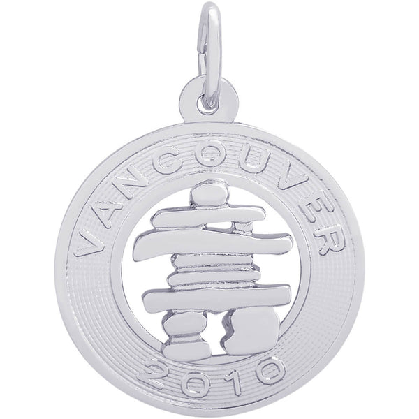 Vancouver Inukshuk Ring Charm