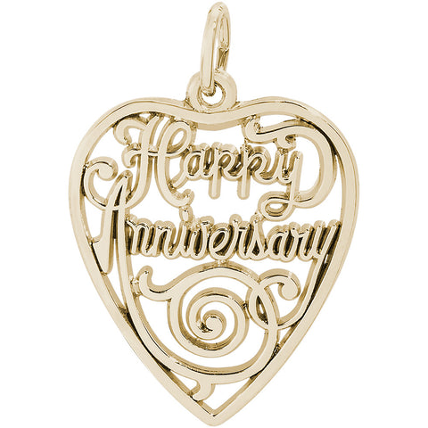 Happy Anniversary Heart Charm