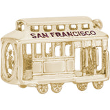 San Francisco Cable Car Bead - Rembrandt Charms - 2