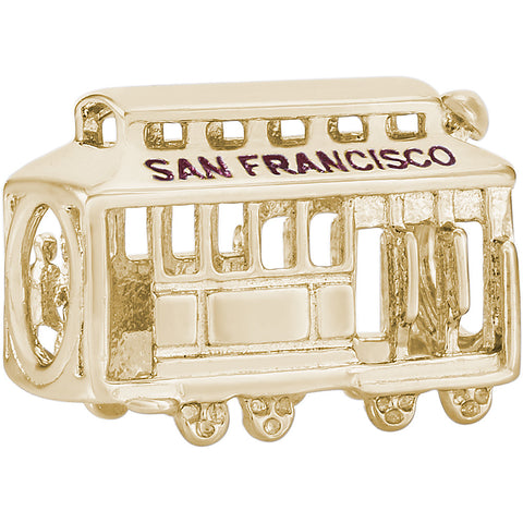 San Francisco Cable Car Bead