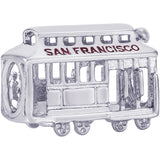 San Francisco Cable Car Bead - Rembrandt Charms - 1