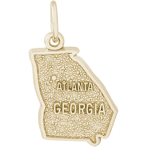 Atlanta Georgia Map Charm