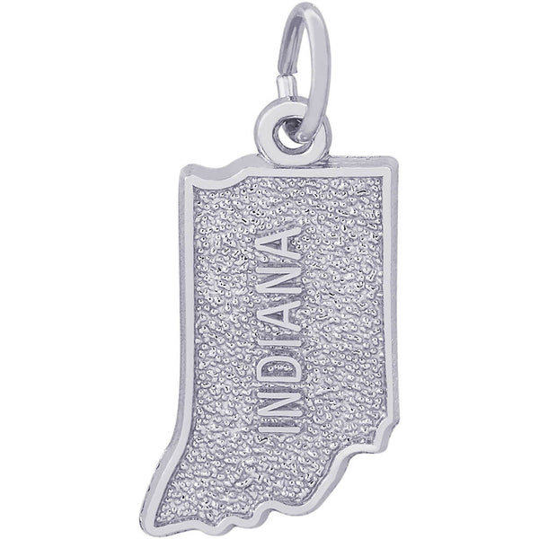 Indiana Map Charm