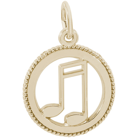 Music Note Disc Charm