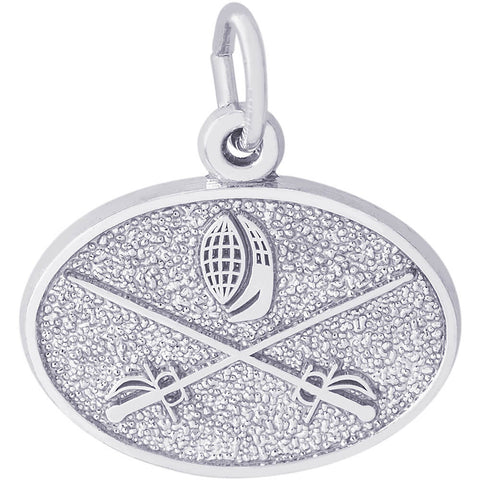 Fencing Oval Disc Charm