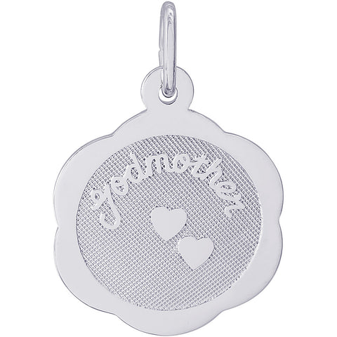 Godmother Scalloped Disc Charm