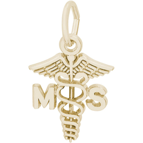 Medical Secretary Caduceus Charm