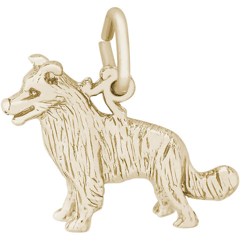 Border Collie Dog Charm