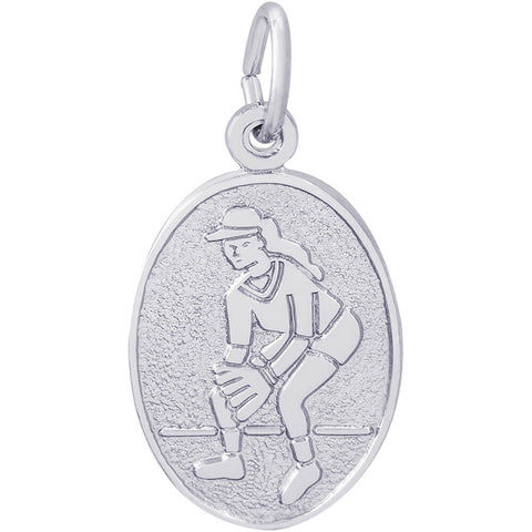 Softball Oval Disc Charm