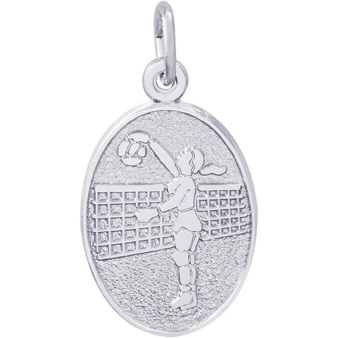 Volleyball Player Oval Disc Charm
