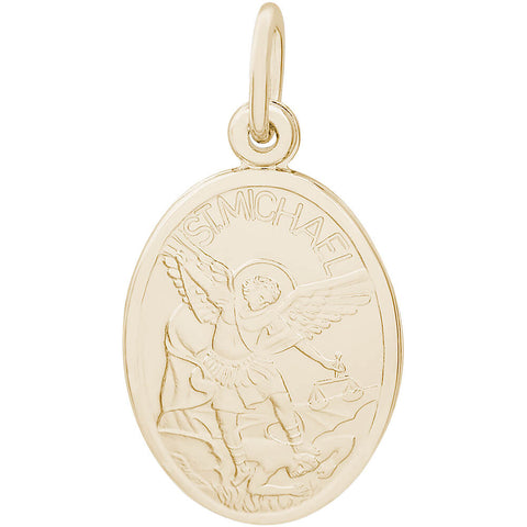St. Michael Oval Disc Charm