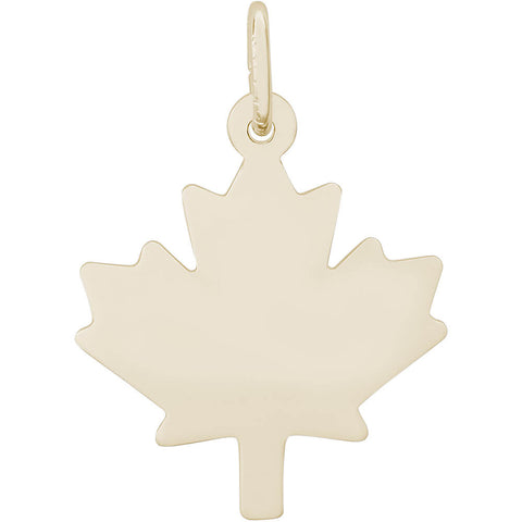 Flat Maple Leaf Charm