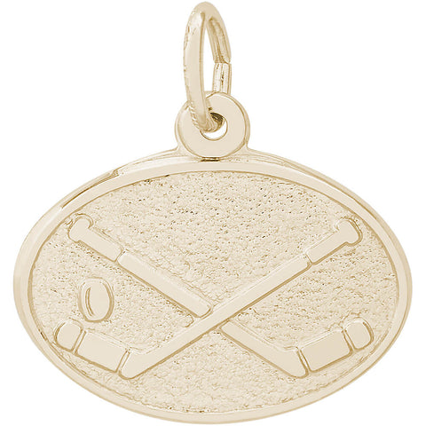 Hockey Oval Disc Charm