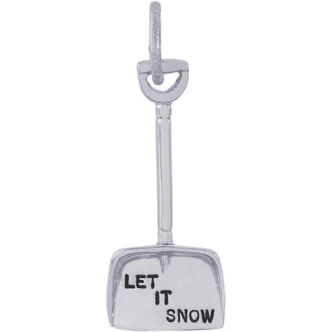 Let It Snow Shovel Charm