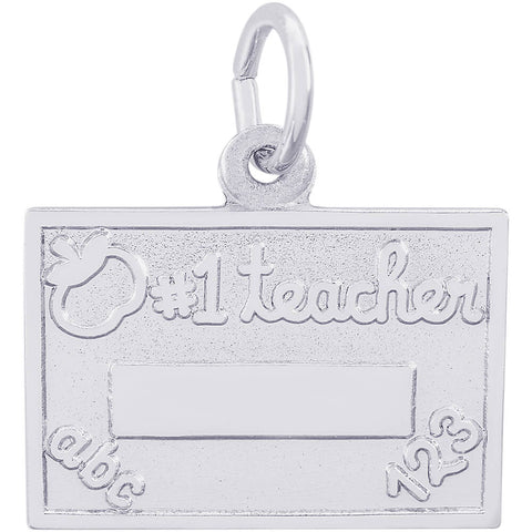 Number One Teacher Charm