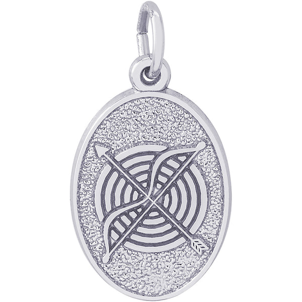 Archery Oval Disc Charm