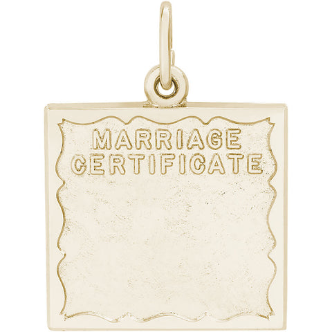 Marriage Certificate Charm