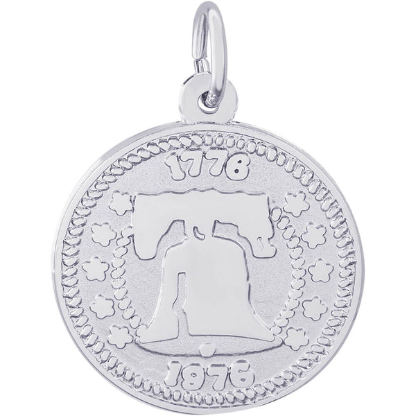 Liberty Bell Disc Charm