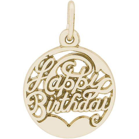 Happy Birthday Open Disc Charm