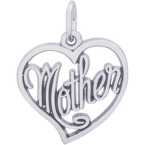 Mother Open Heart Charm