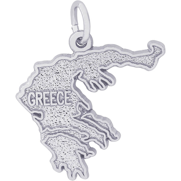 Greece Map Charm