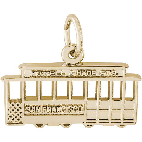 Flat San Francisco Cable Car Charm