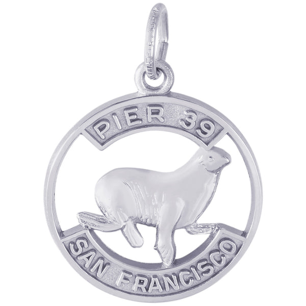 Pier 39 Sea Lion Disc Charm